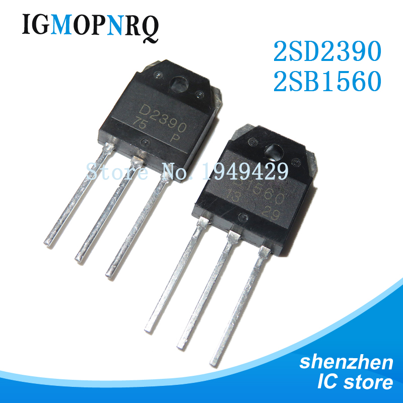 4PCS 2SB1560 B1560 2SD2390 D2390 TO-3P Sound matching tube (2PCS* B1560 +2PCS* D2390 ) new original image