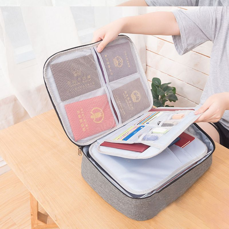 New Document Ticket Storage Bag Waterproof 3 Layers Large Capacity For Home Travel