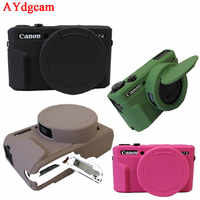Belle caméra vidéo sac pour Canon G7XII G7X II G7X mark 3 G7X III G7XIII coque en silicone en caoutchouc caméra étui de protection peau