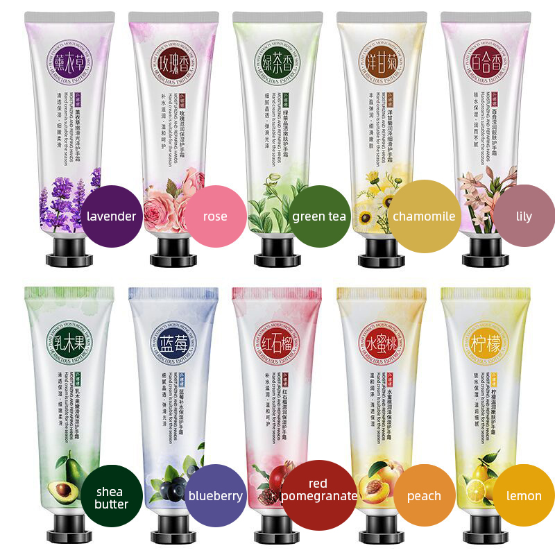 Hand Cream Hydrating Anti-drying Smooth Fine Lines Brighten Skin Color Hand Cream Lavender Nourishing Skin Care