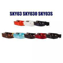 Skyzone SKY03 SKY03O Oled SKY03S 03O 03 S 5.8GHz 48CH التنوع FPV نظارات دعم OSD DVR HDMI مع رئيس المقتفي مروحة LED ل RC