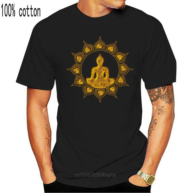 Будда медитация футболка Лотос цветок буддизм духовная Релаксация 2019 новейшие мужские забавные хлопковые футболки для мужчин футболка|Футболки| | АлиЭкспресс