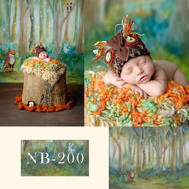 Avezano Forest animals spring Owl decorations Photo Backdrops Kids Baby Shower Photography Background for Photo Studio Banner
