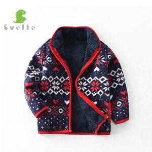 Image 2 - 2 9 yファッションキッズボーイズためしなやか裏地毛皮の厚さのフリース暖かい秋冬jakcetレトロコート上着子供服