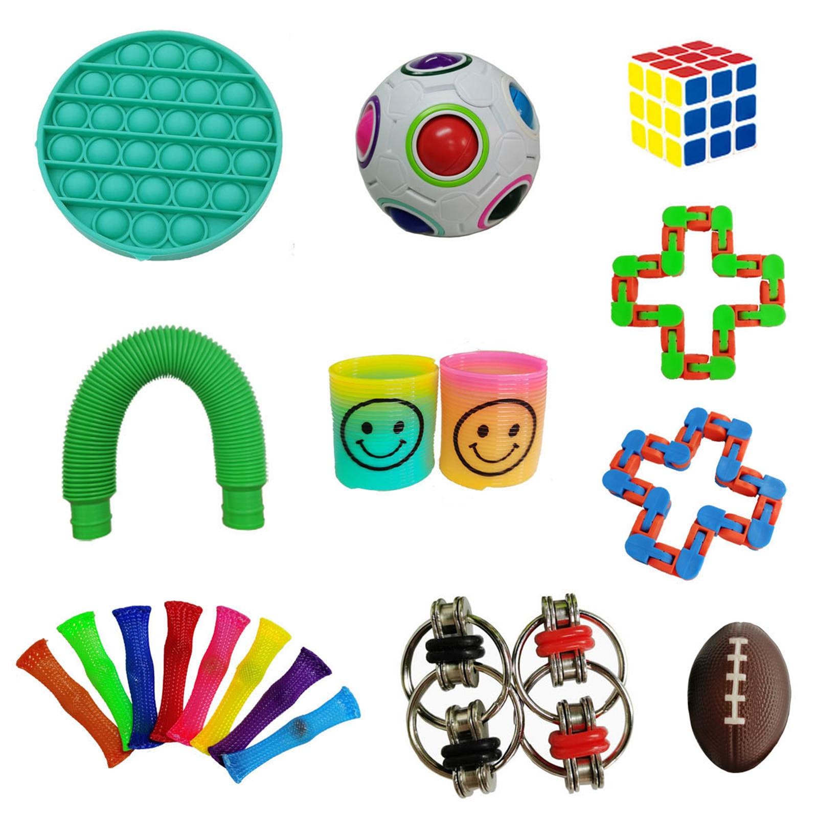 Toy-Kit Sensory-Toy-Set Relief-Toys Fidget-Hand-Toys Autism Stress Decompression Pop img3