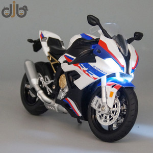 1:12 Diecast Motorcycle Model Toy S1000RR Replica With Sound & Light
