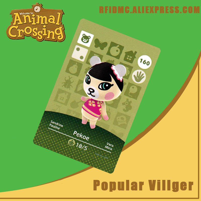 160 Pekoe Animal Crossing Card Amiibo For New Horizons