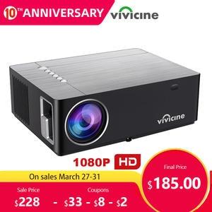 Vivicine M20 новейший 1080p проектор, опция Android 9,0 1920x1080 Full HD светодиодный проектор для домашнего кинотеатра и видео проектор поддержка AC3