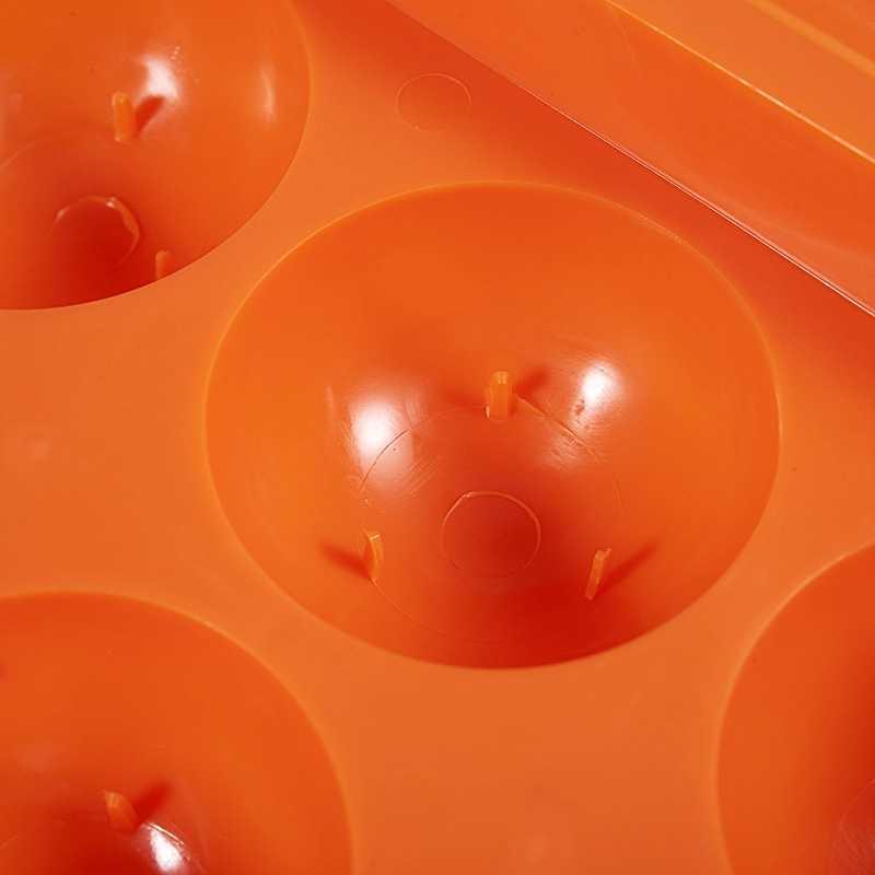 Taşınabilir yumurta tutucu/plastik yumurta kutusu kamp ve piknik için (rastgele renk)