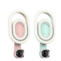 Adjustable 9 Kind White Warm LED Light Advanced Two Colors Phone Selfie Fill Light Wide Angle Macro Lens|Mobile Phone Lens| |  -