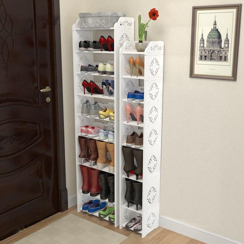 Modern Shoe Rack Multilayer Shoe Organizer Nordic Rangement Chaussure Organizador Zapatos White Schoenenrek Schoenen Opbergen