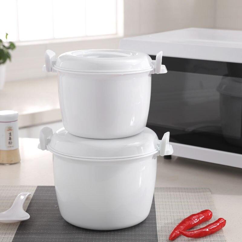 Tragbare Mikrowelle Reiskocher Multifunktions Dampfer Thermische Isolierung Bento Lunch Box Food Grade PP Dampfenden Utensilien