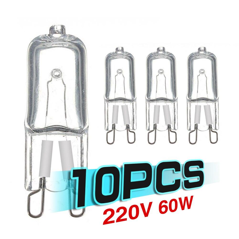 10 шт., галогенные светодиодсветодиодный лампы G9, 220 В, 230 В, 240 в, 20 Вт, 25 Вт, 40 Вт, 60 Вт