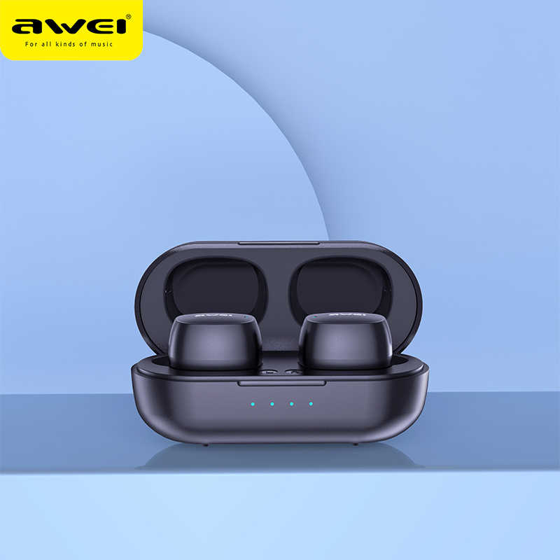 AWEI T13 TWS Vero Wireless Bluetooth Auricolari Bass HiFi In-Ear Mini Capsule Touch Contorl Con Il Mic HiFi Stereo gaming Auricolari