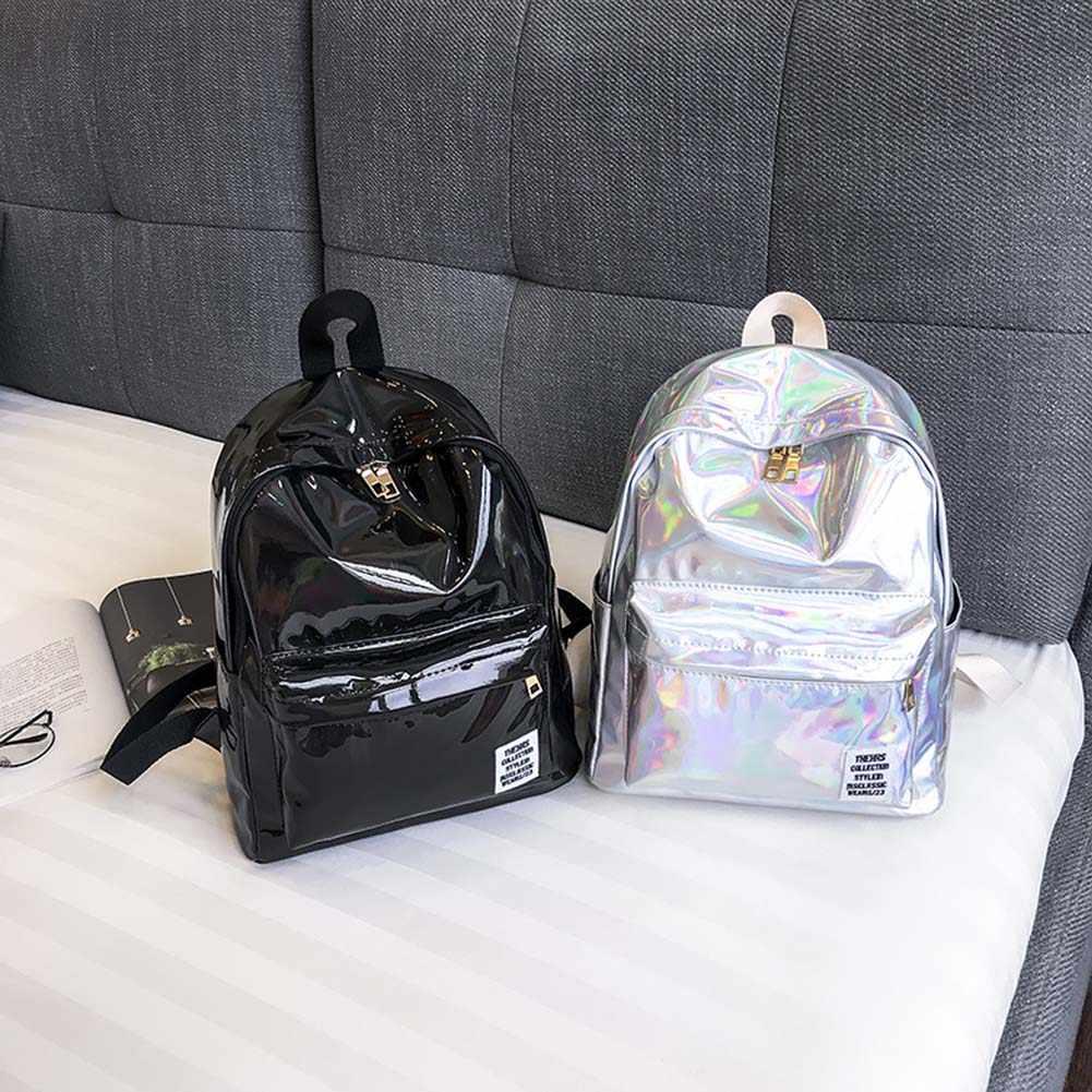 Hologramm Laser Rucksack Für Schule Student frauen Laser Silber Farbe Holographische Tasche rucksäcke Frauen Rucksack Mochila Feminina