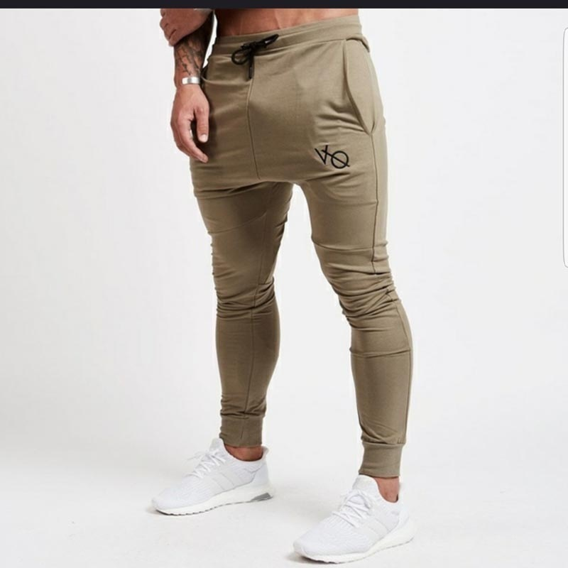 2018 Foreign Trade New Style Europe And America Men Skinny Athletic Pants Slim Fit Fitness Sports Embroidered Youth Beam Leg Tro