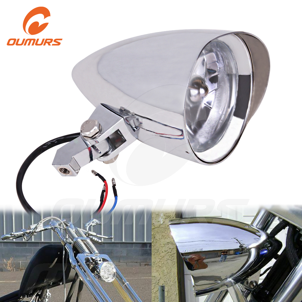OUMURS Motorcycle Front Headlight 4.5