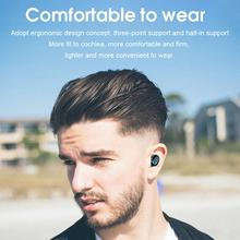 цена Waterproof Bluetooth 5.0 Wireless Sports Headset Headset Touch Headset 9D Surround Gaming Headset Charging Compartment 3500mmAH онлайн в 2017 году