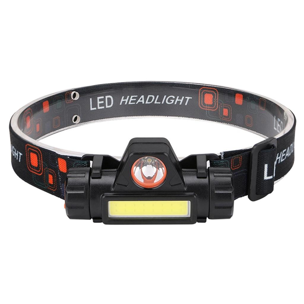Imperméable à leau coureur LED phare USB Rechargeable phare cyclisme équipement de course en plein air randonnée phare lampe torche