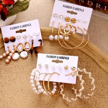 VKME Boho Tassel Earrings Bohemian Long Earrings Set For Women Brincos Geometric Fabric Earring Female Fashion Jewelry 1