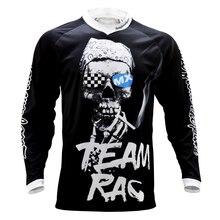 Bike Jersey Mtb-Shirt Motorcycle-Clothing Skull Motocross Long-Sleeve Black Tops Men