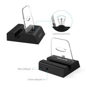 Image 2 - Dodocool Base de carga certificada por MFi, soporte de estación con conector de Audio de 3,5mm, Cable USB de 3,3 pies para iPhone Series