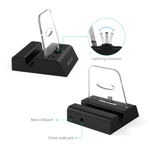 Image 2 - dodocool MFi Certified Charging Dock Station Holder Stand with 3.5 mm Audio Jack 3.3ft USB Cable for iPhone Series