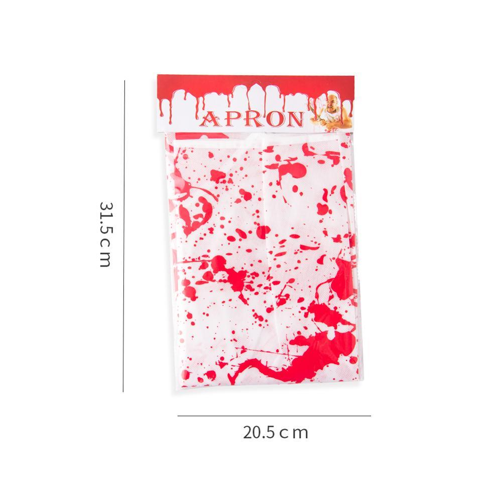 1pc Halloween Apron Red Bloody Spoof Funny Blood Pattern Plastic Party Kitchen Supplies Decorations in Party DIY Decorations from Home Garden