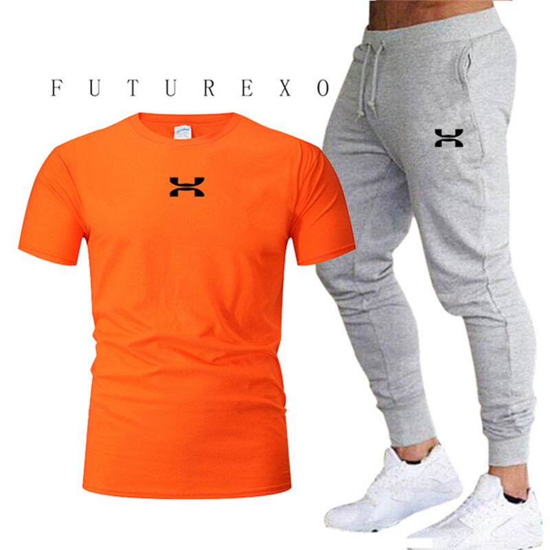 2020 New Fashion Men's Sportswear Running Jogging Men's Running Fitness Clothing Men's Fitness Clothing Sports Two-piece Suit