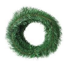 Рождественское украшение, Искусственный ротанг, 5,5 м, имитация шифрования растений, гирлянда из сосны, искусственный цветок, венок «сделай с...