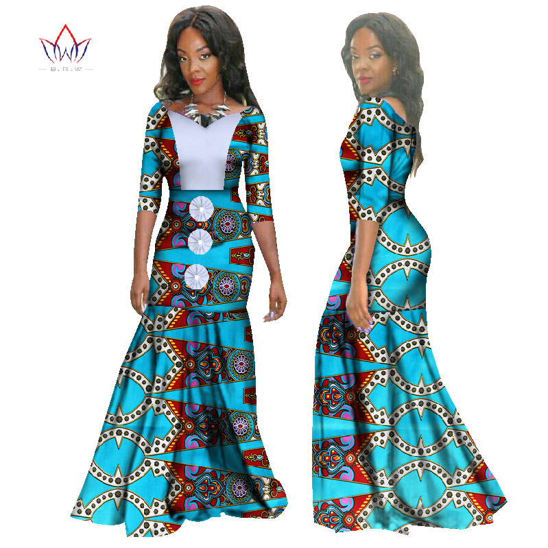 Dashiki Summer Dress Robe Africaine Femme African Dresses For Women Plus Size African Clothing Traditional Bazin Riche WY1282