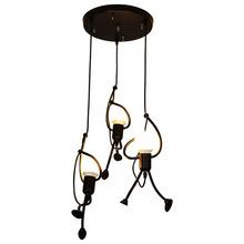 Nowoczesny czarny żyrandol do jadalni salon sypialnia żyrandole oprawa oświetleniowa nabłyszczania de para domu światła dekoracyjne tanie tanio YCSPLEND CN (pochodzenie) Pokrętło przełącznika 220 v iron CCL331 Metal Vintage ceiling chandeliers Montażu podtynkowego