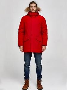 Мужская парка с капюшоном Tiger Force, водонепроницаемая теплая куртка с натуральным мехом и большим карманом, зима 2019