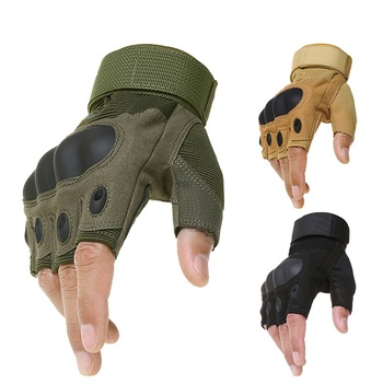 Outdoor Tactical Fingerless Gloves Military Army Shooting Hiking Hunting Climbing Cycling Gym Riding Airsoft Half Finger Gloves outdoor sport tactical military men gloves armor protection full finger gloves for riding hiking climbing training