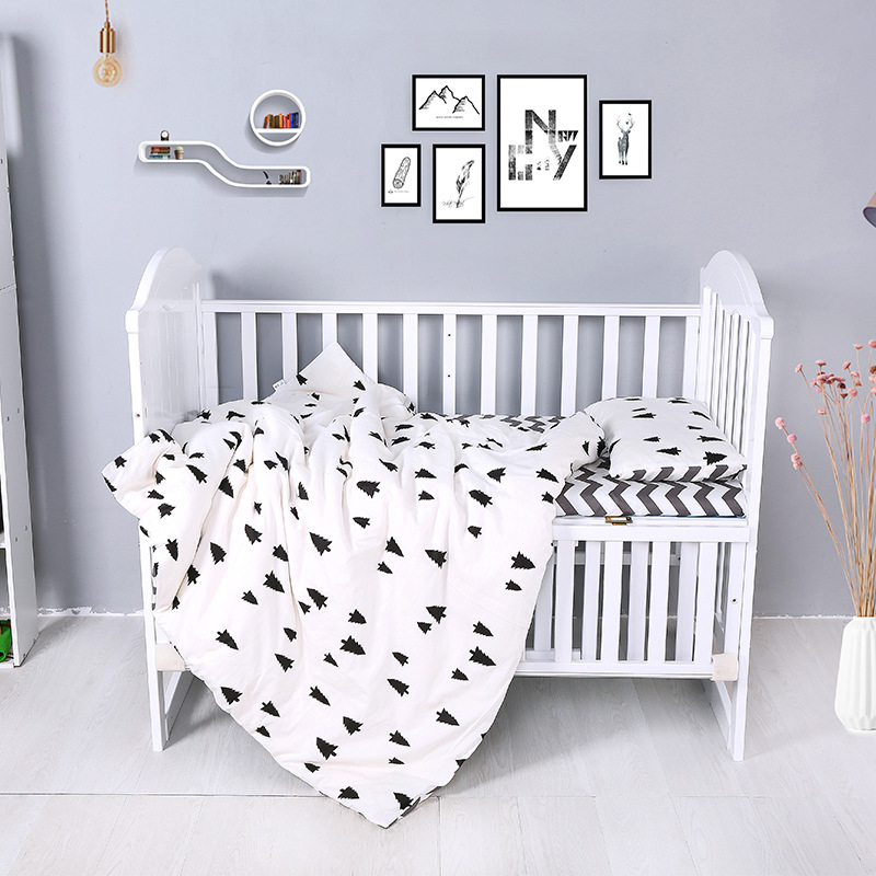 Baby Bedding Set Bumper Cotton Print Newborn Mattress Cover Duvet Cover Baby Cot Sheet Pillowcase Crib Protective Case Bed Set
