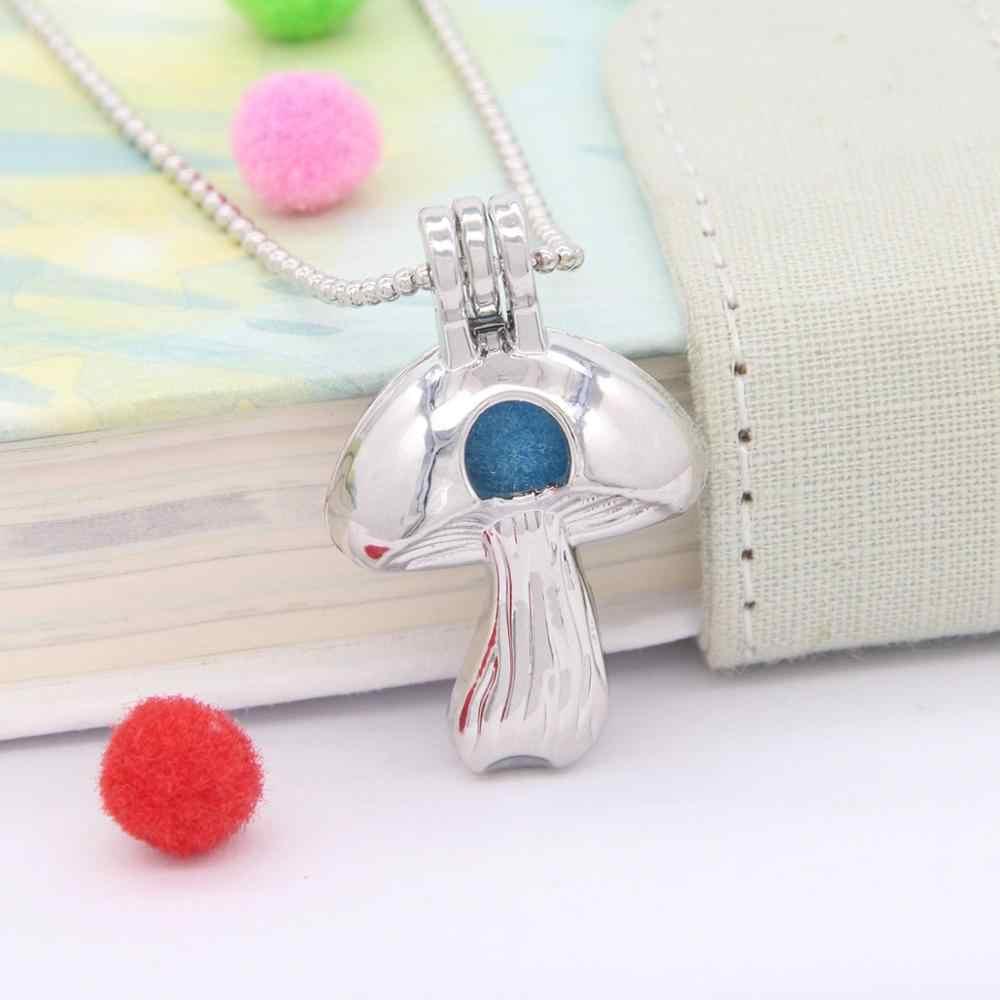 Chinow 30 Uds. Encantos múltiples estilos bola jaula ala Cruz sirena perla perlas jaula medallón joyería con difusor collar DIY regalo
