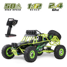 Wltoys 12428 1/12 RC Climbing Car 2.4G 4WD 50KM/H High Speed RC Car Electric Toys Brushed Crawler RTR Off-road Vehicle(China)