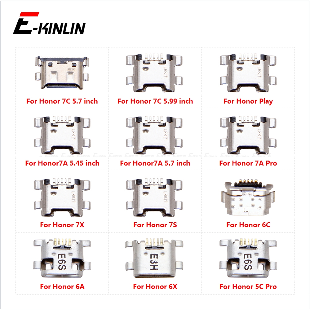 Type-C Charge Charging Plug Dock Micro USB Jack Connector Socket Port For HuaWei Honor Play 7C 7A 7X 7S 6C 6A 6X 5C Pro