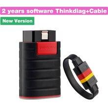 Thinkdiag – nouveau logiciel complet 2 ans/1 an, mise à jour gratuite, lecteur de Code de voiture OBDII, système complet, Scanner automatique, Bluetooth, ue