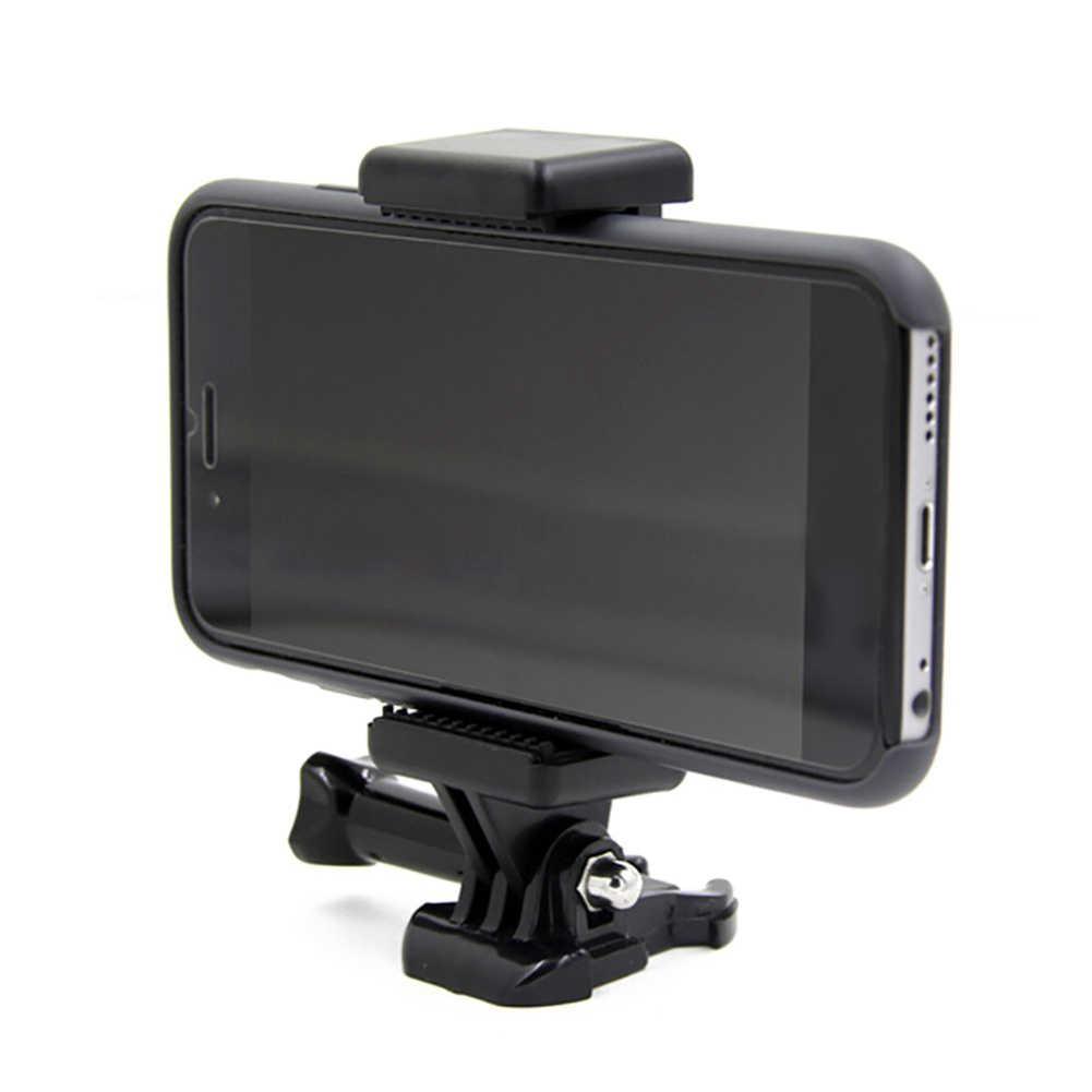 クリップと 1/4 ネジ穴拡張可能調節可能なポータブルカメラアクセサリー Selfie スティック黒マウント電話ホルダーブラケット移動