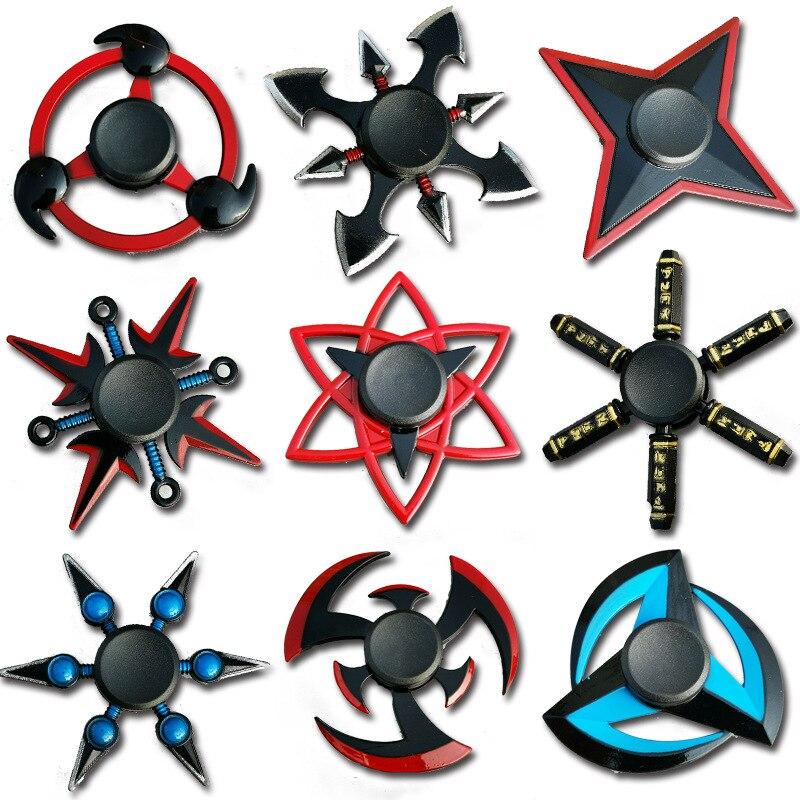 Naruto Finger Spinner EDC Stuffer For Kid/Adult Toys Tri Cross Spinner Metal Spinner Gyro Autism Gift  Funny Hands For Fingers