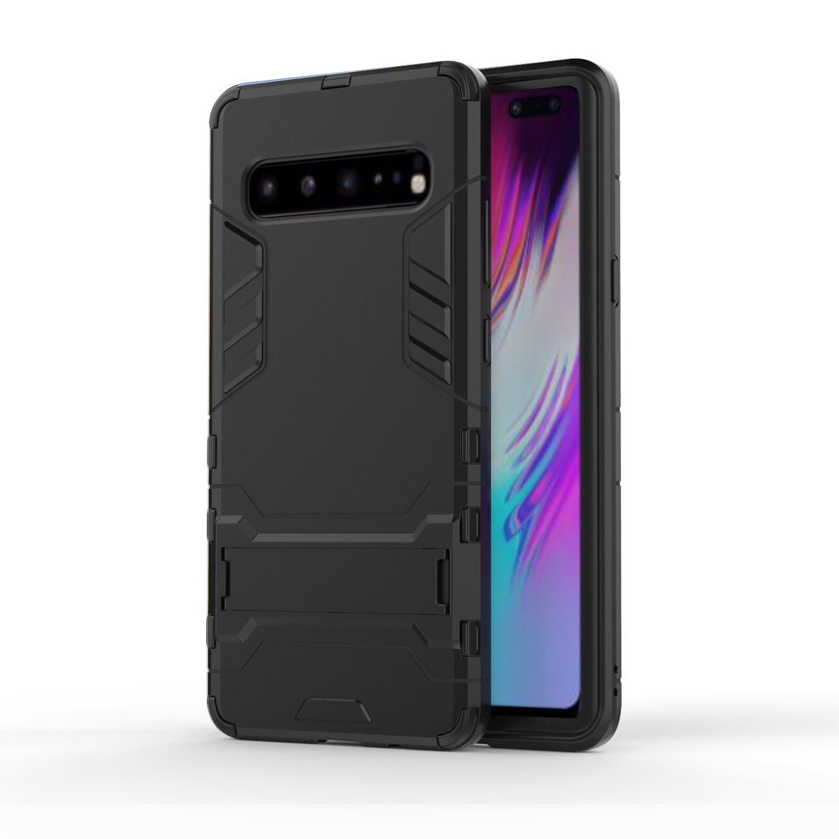 For <font><b>Samsung</b></font> Galaxy <font><b>S10</b></font> 5G <font><b>Case</b></font> s105g <font><b>Armor</b></font> Shockproof Hard Silicone Holder Phone <font><b>Case</b></font> for <font><b>Samsung</b></font> <font><b>S10</b></font> 5G Stand Hard Hybrid Cover image