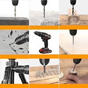 Image 5 - Chave de fenda elétrica mão broca bateria recarregável elétrica martelo broca elétrica chave de fenda diy ferramenta elétrica do agregado familiar