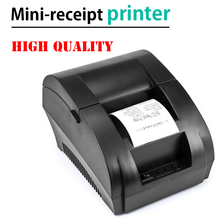 Original zj 5890k mini impressora 58mm, receptor térmico, impressora de bilhete universal, suporte dot matrix multi idioma