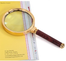 Hot High power HD hand-held magnifying glass optics 10 times, students 20 children 100 elderly reading magnifier