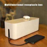 Cable Storage Box Power Strip Wire Case Anti Dust Charger Socket Organizer Box Safety Desktop Network Line Storage Bin