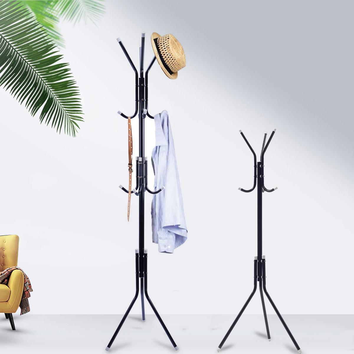 6/9 Hooks Metal Stand Coat Rack For Kids Adult Tree Hat Jacket Umbrella Cloth Hanger Holder Storage Rack Living Room Furniture