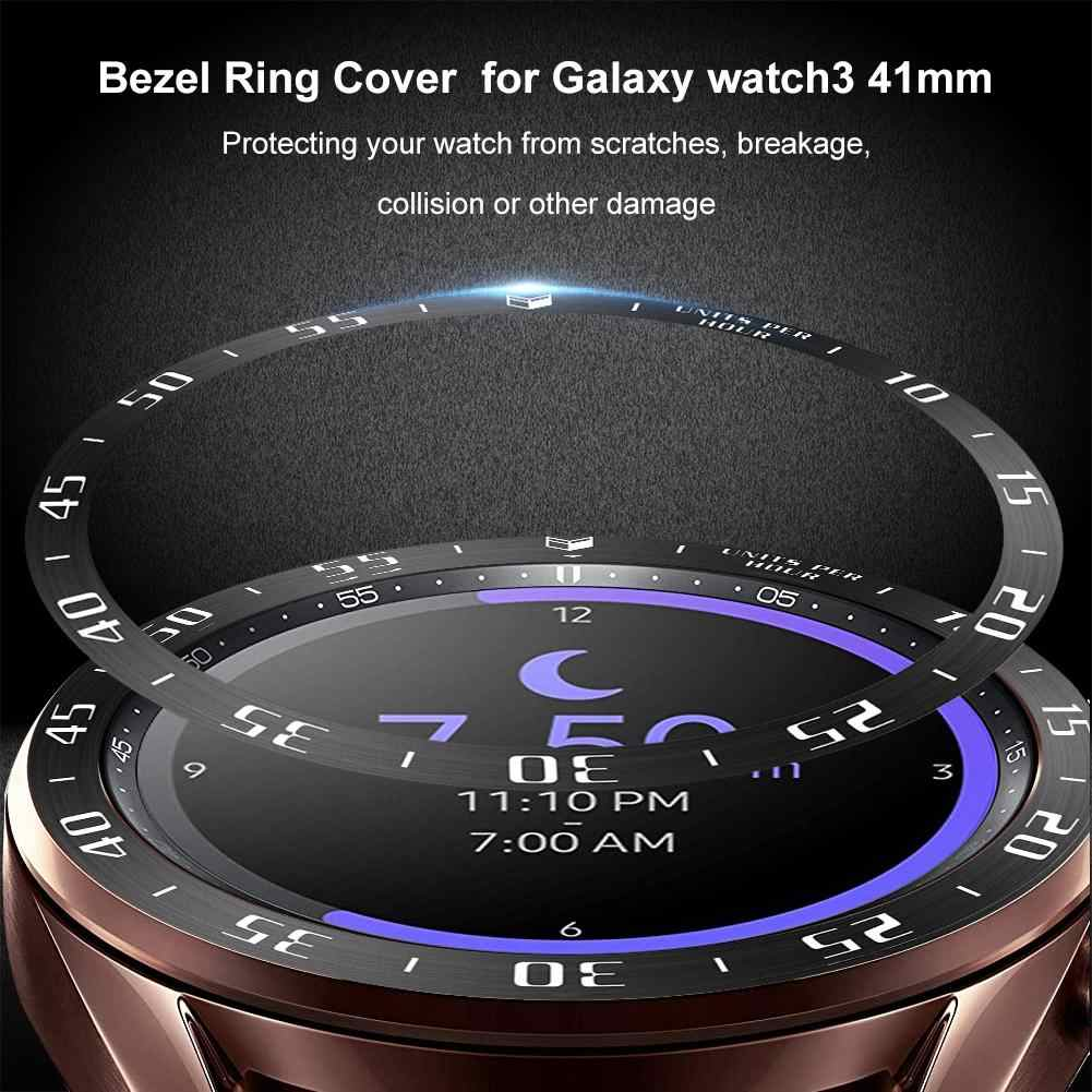 Samsung Galaxy izle 3 41mm akıllı izle halka çerçeve şekillendirici çerçeve kılıf kapak koruyucu metal halka Anti Scratch koruma