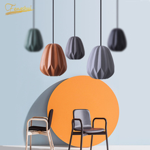 Postmodern LED Pendant Lamp Lighting Fixture Nordic Resin Pendant Lights Attic Restaurant Hotel Living Room Bedroom Hanging Lamp
