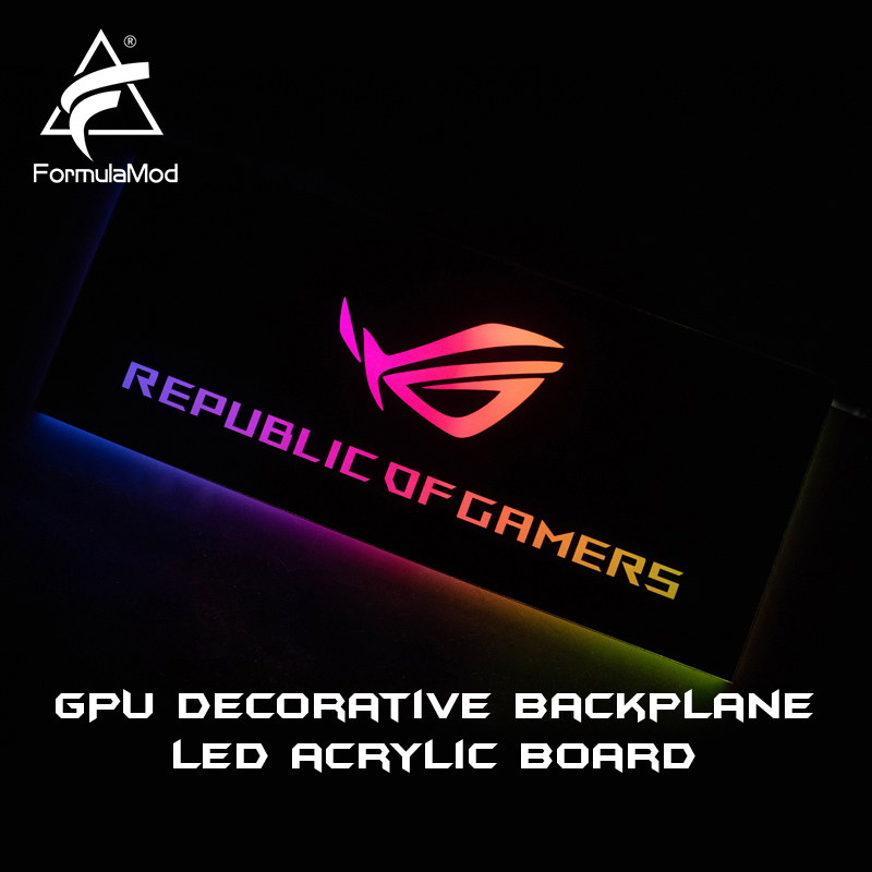 FormulaMod Fm-DB, Gpu Decorative Backplate, With 5v 3pin Lighting LED Acrylic Backplane, Can Sync To Motherboard